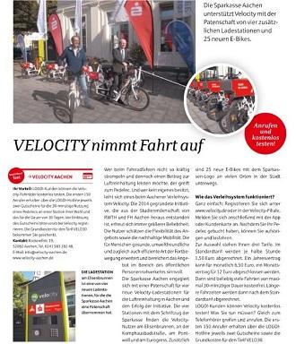 Logo - Velocity nimmt Fahrt auf