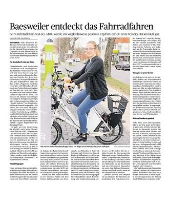 AZ Baesweiler entdeckt das Fahrradfahren